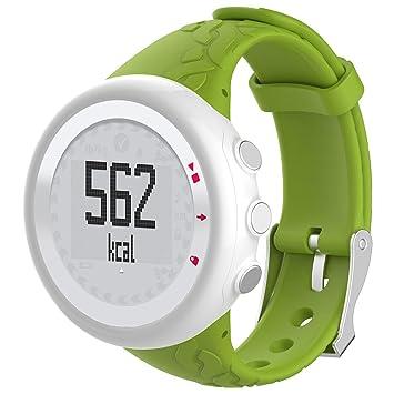 Leegoal Suunto Quest - Correa de Silicona para Reloj Inteligente Suunto Quest M1 M2 M4 M5 M, Color 1#Lime: Amazon.es: Deportes y aire libre