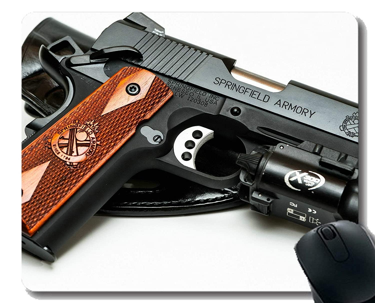 Amazon com : Anti-Slip Mouse Pad Mat, Weapon Springfield Armory 1911