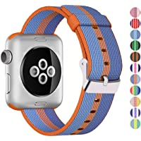 Sustitución de Nailon Trenzado Banda para el Apple Watch por Panteón, o de los Hombres de la Mujer, Correa se Ajusta la 38mm o 42mm para Apple iWatch 1, 2, 3y Nike Edition