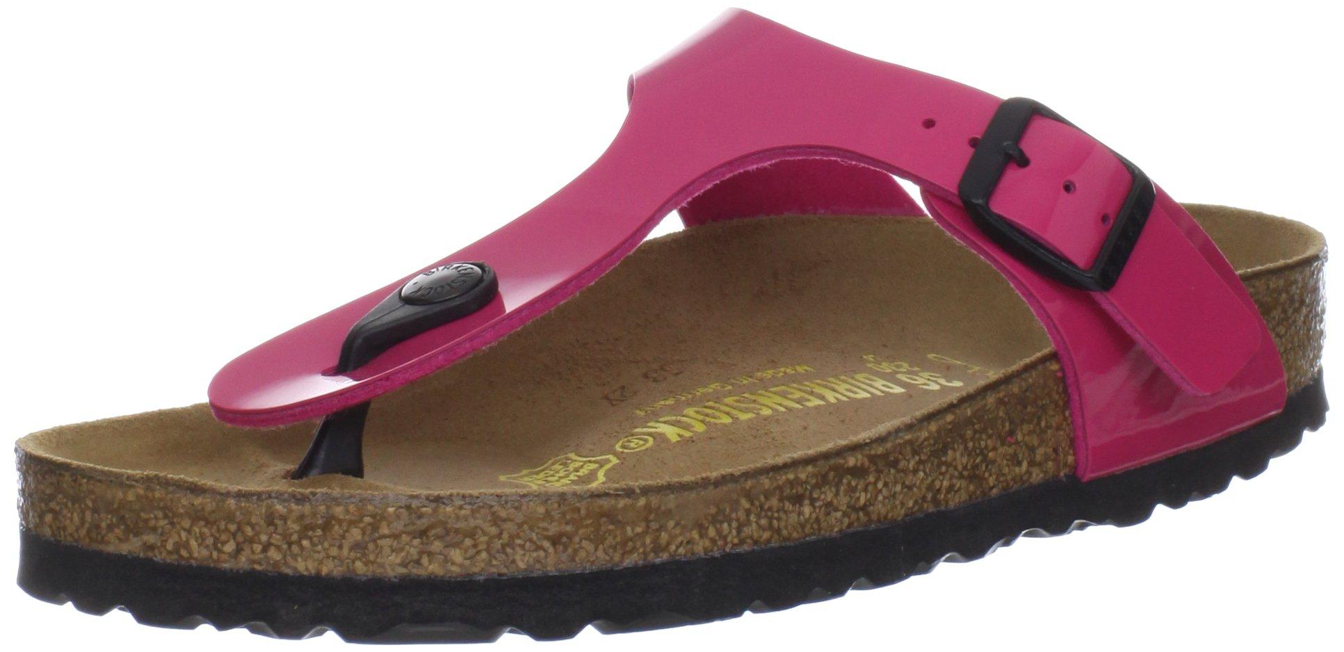 Birkenstock Women's GIzeh Thong Sandal, Lack Pink, 37 M EU/6-6.5 B(M) US