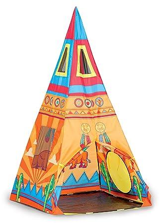 Pacific Play Tents Kids Santé Fe Giant Teepee Tent - 36u0026quot; ...  sc 1 st  Amazon.com & Amazon.com: Pacific Play Tents Kids Santé Fe Giant Teepee Tent ...