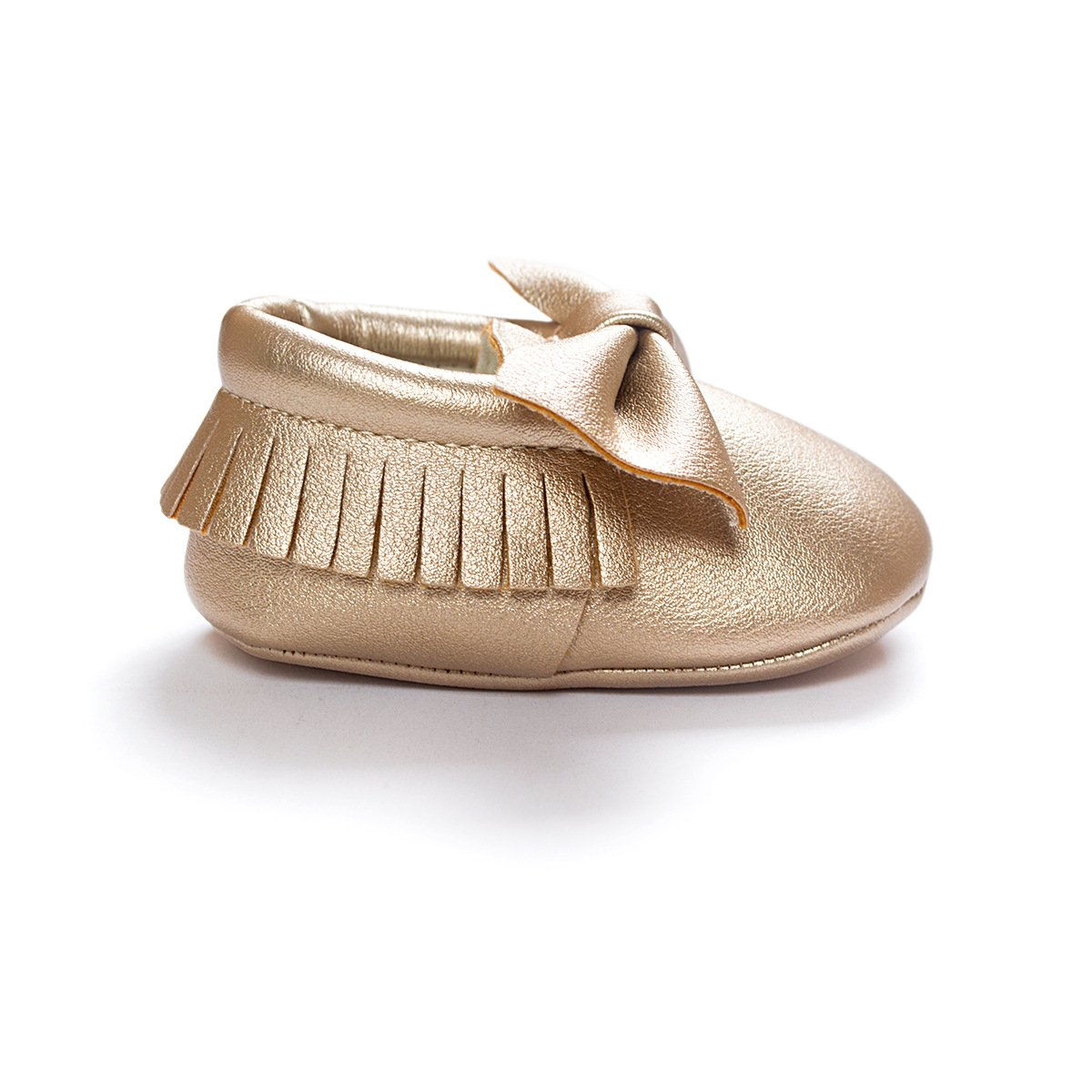 C&H Baby boy girl soft cute tassel bow tassels baby cot shoes baby shoes (11cm(0-6months), 5107 golden) by C&H (Image #3)