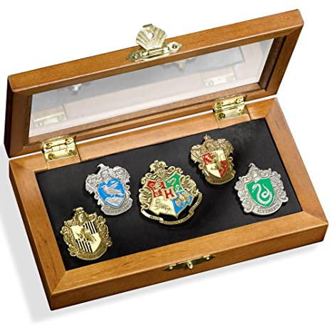 6c68dd4b1 Amazon.com: The Noble Collection Harry Potter House Crest Pin Set: Toys &  Games