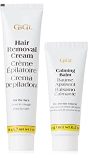 Gigi Hair Removal Cream For Face With Calming Balm (2 Pack)