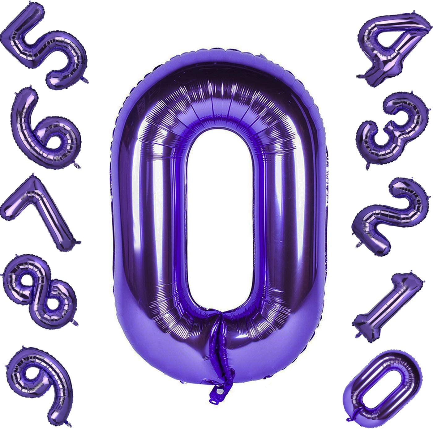40/'/' 0-9 Numbers Balloon Violet Foil Balloon Purple Wedding Birthday Party Hot