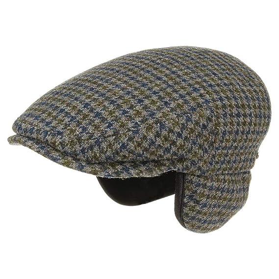 6ee3f9a7b Stetson Kent Wool Earflaps Flat Cap flat cap flat caps: Amazon.co.uk ...