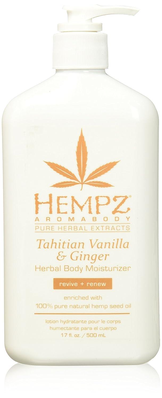 Hempz Tahitian Vanilla & Ginger Herbal Body Moisturizer, 17 Ounce