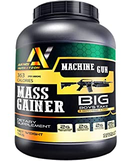 Arms Nutrition Machine Gun Mass Gainer 1 kg (Chocolate Ice Cream)