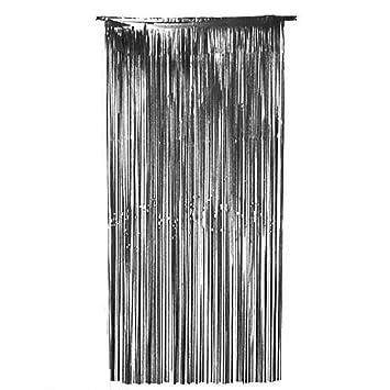 Jimmkey Shimmer Door Curtain Fringe Garlands Foil CurtainsVoile Panel Luxury Sparkle