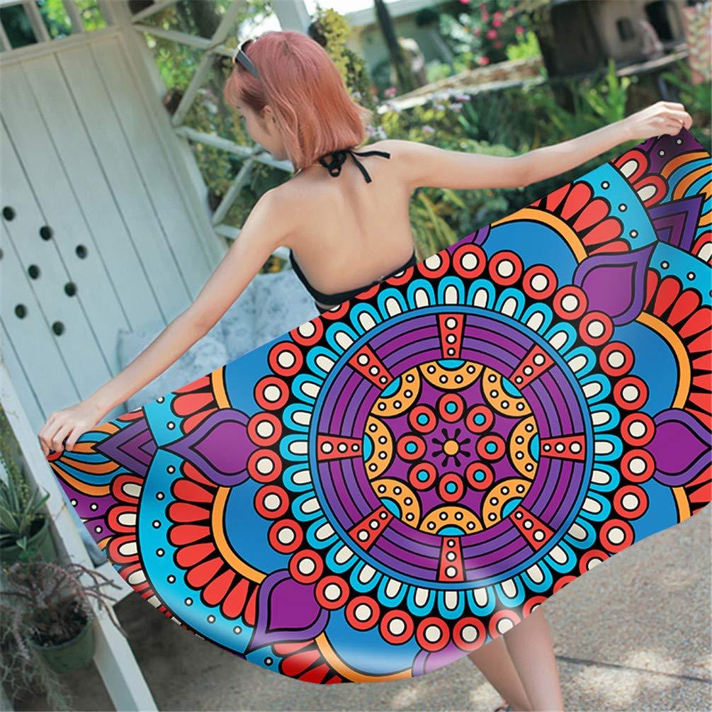 Amazon.com : W.ILGF 3D Printed Mandala Rectangle Beach Towel for Adults Child Summer Toalla Yoga Mat 16 70x140cm : Garden & Outdoor