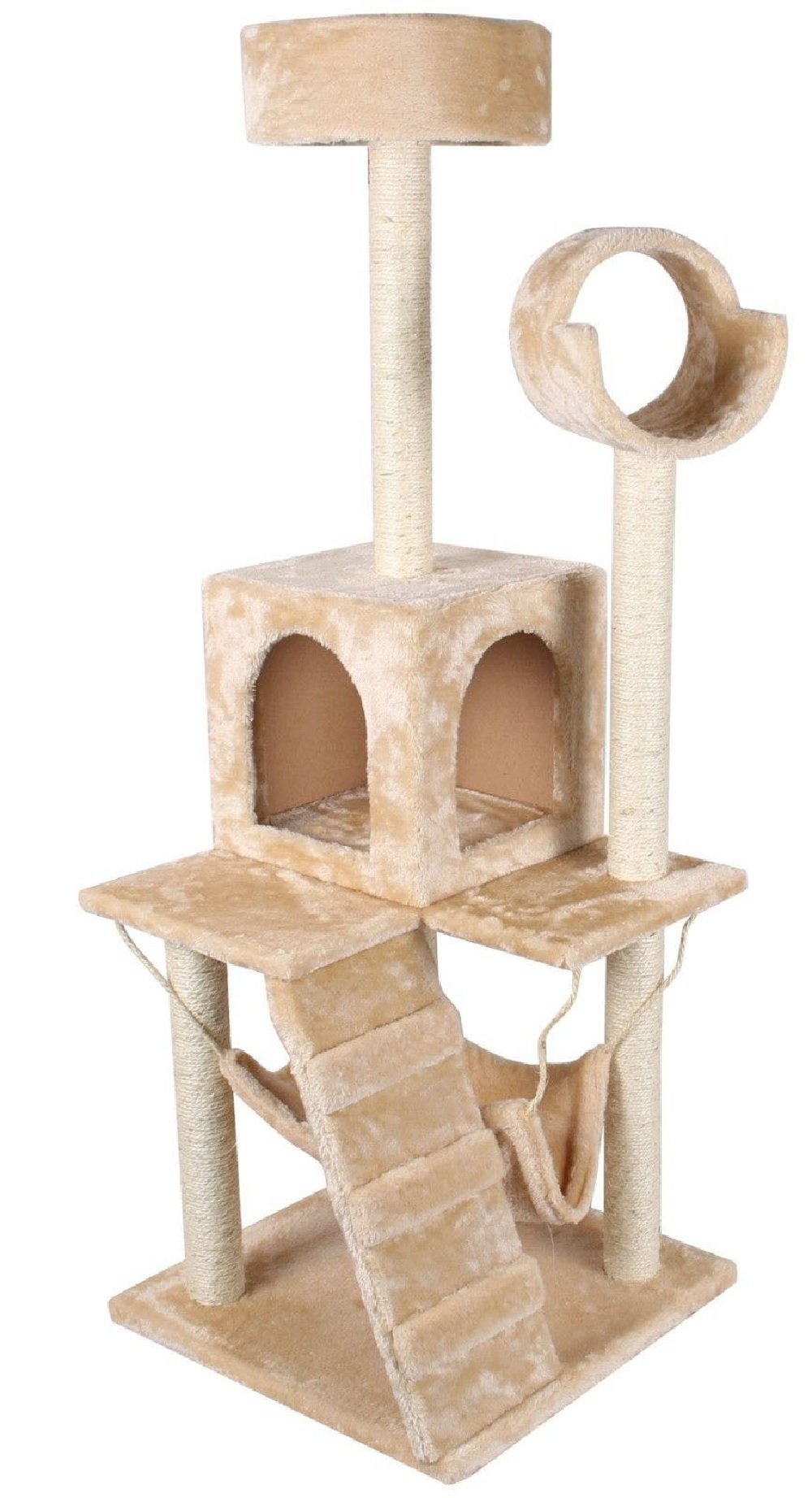 Deluxe 52'' Cat Tree Tower Condo Scratcher Furniture Kitten House Toy