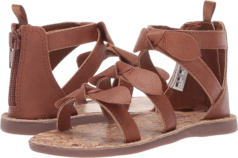 OshKosh BGosh Girls Winona Bow-Accented Strappy Sandal,