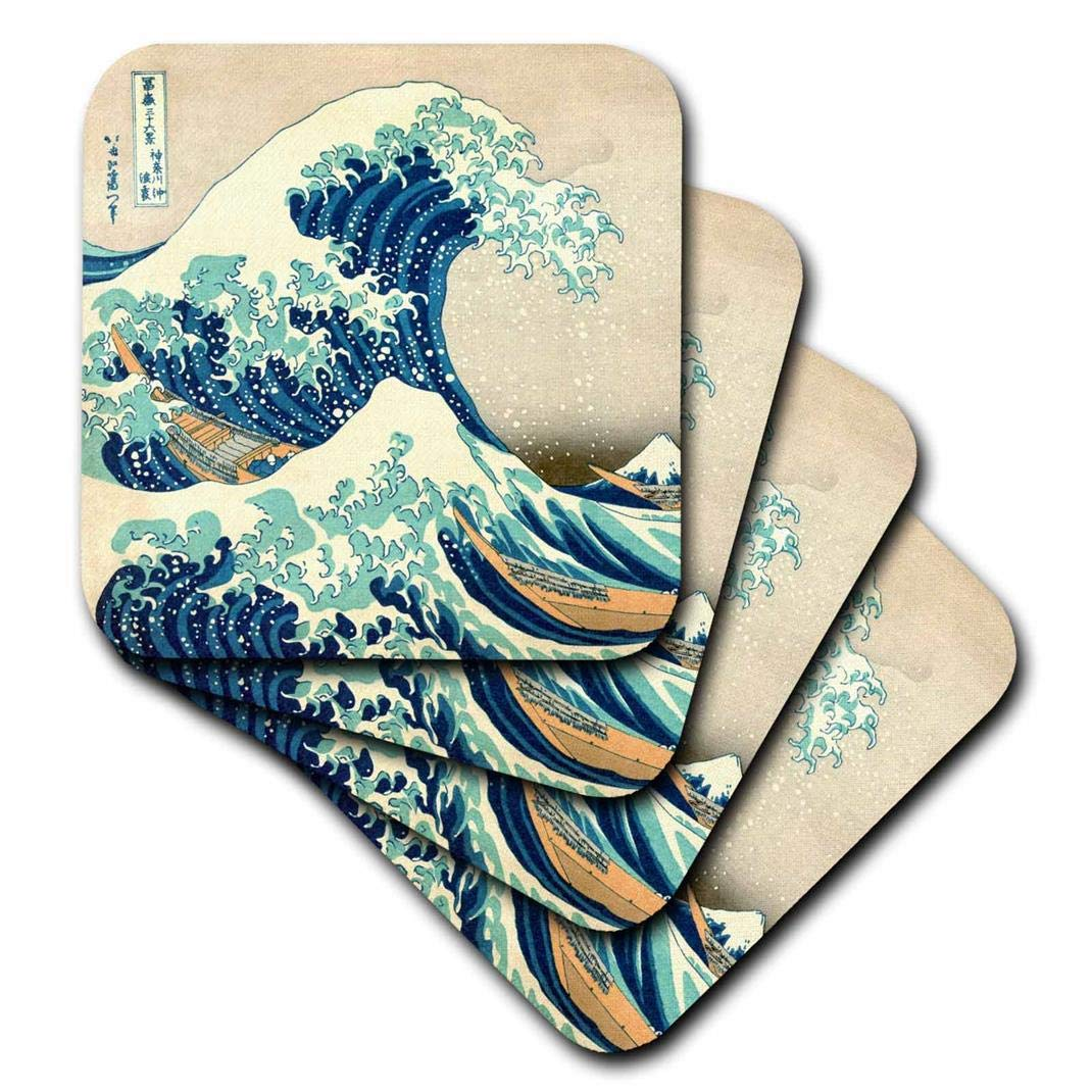 3dRose CST_155631_3 The Great Wave Off Kanagawa by