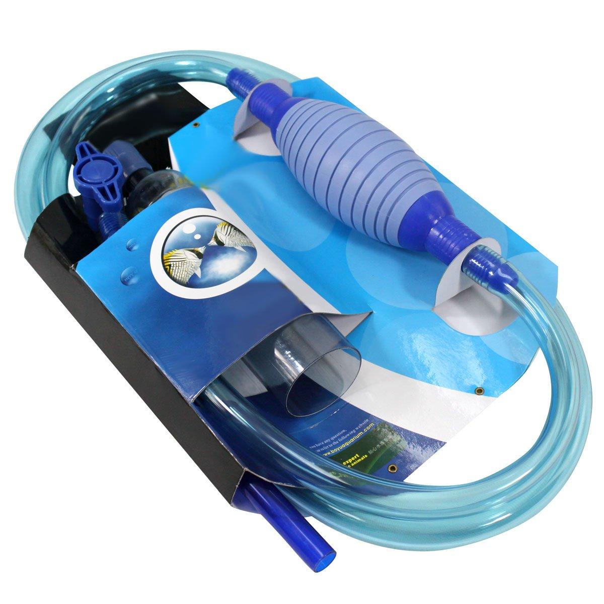 Acuario Limpiador, sifón y limpiador para Acuario y pescado Depósito Agua Cambio Filtro de agua 51770Gravel Cleaner BlueBD