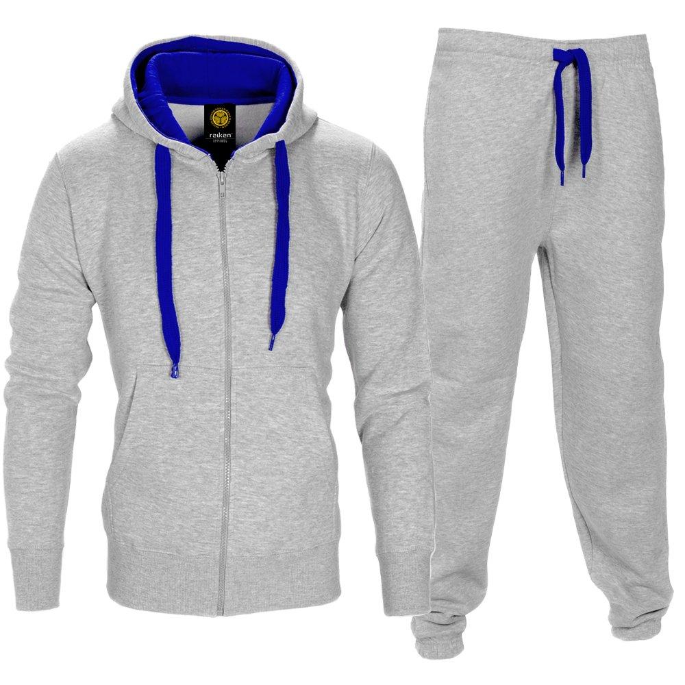 Contrast Cord Full Zip Brushed Fleece Tracksuit Raiken