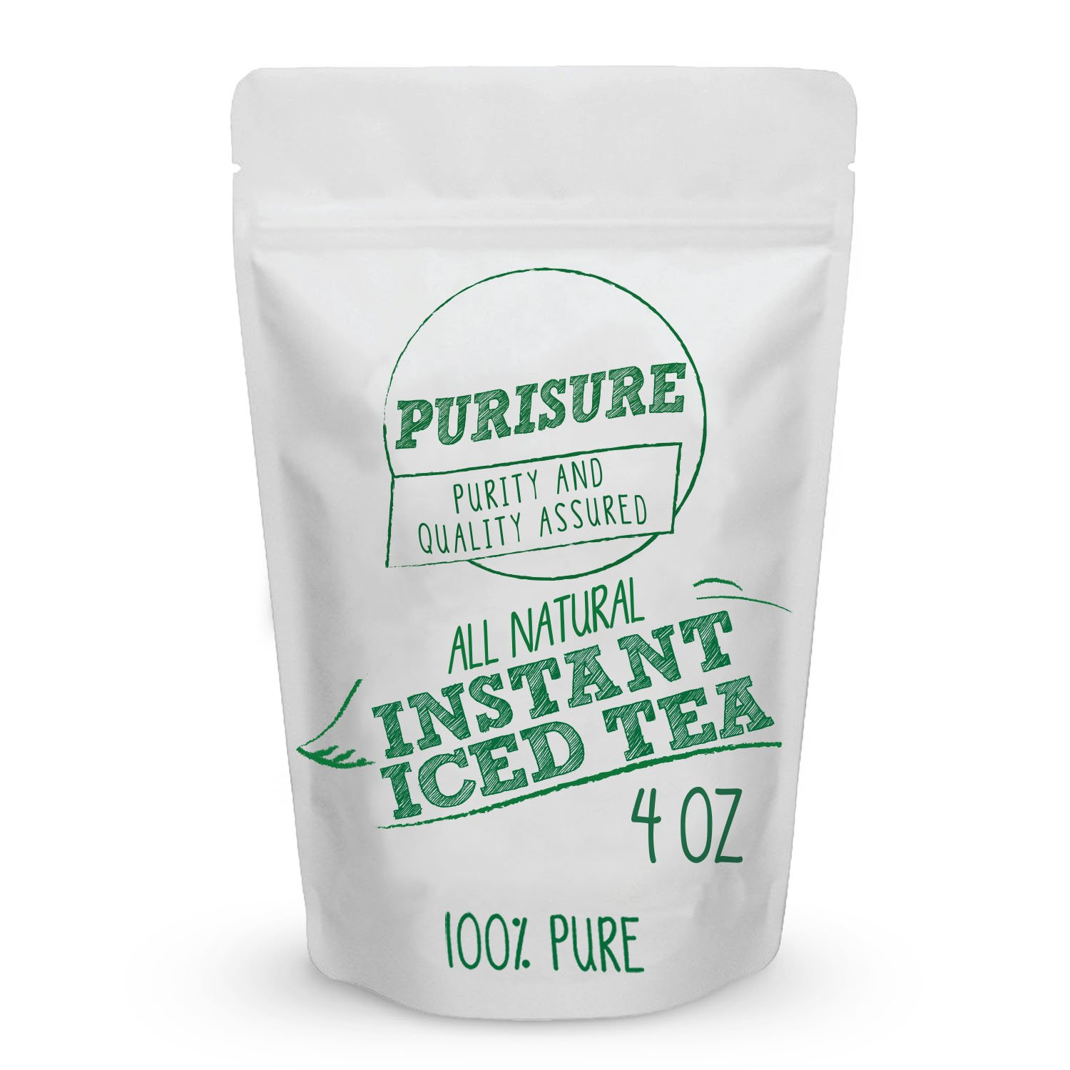WHC All Natural Instant Iced Tea 2 Ounce (96 Servings) | Pure Black Tea Powder | Resealable Bag
