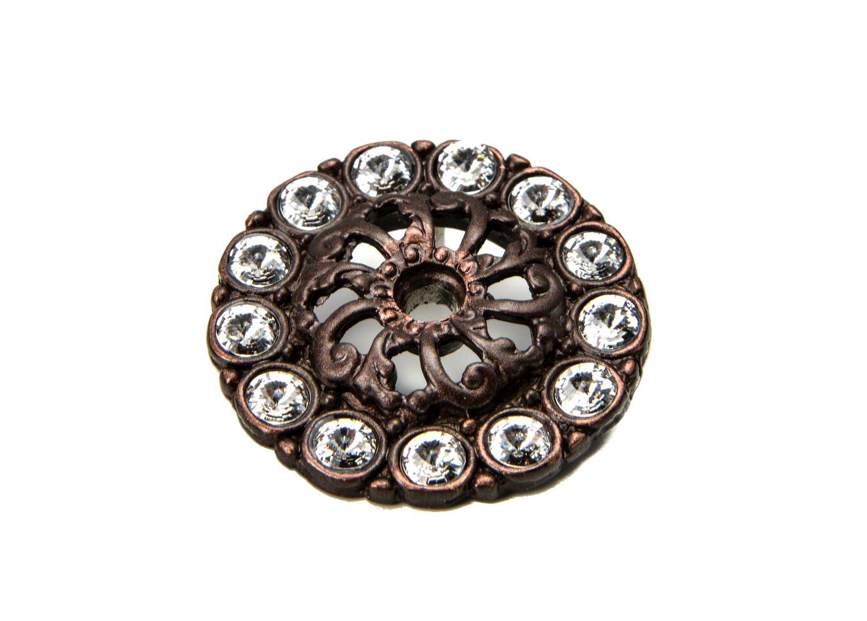 Carpe Diem Hardware Carpe Diem 882-22C Cache' Oil Rub Bronze Medium escutcheon w/swarovski elements Oil Rub Bronze