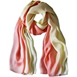 K-ELeven Silk Scarf Gradient Colors Scarves 100% silk Long Lightweight Sunscreen Shawls for Women