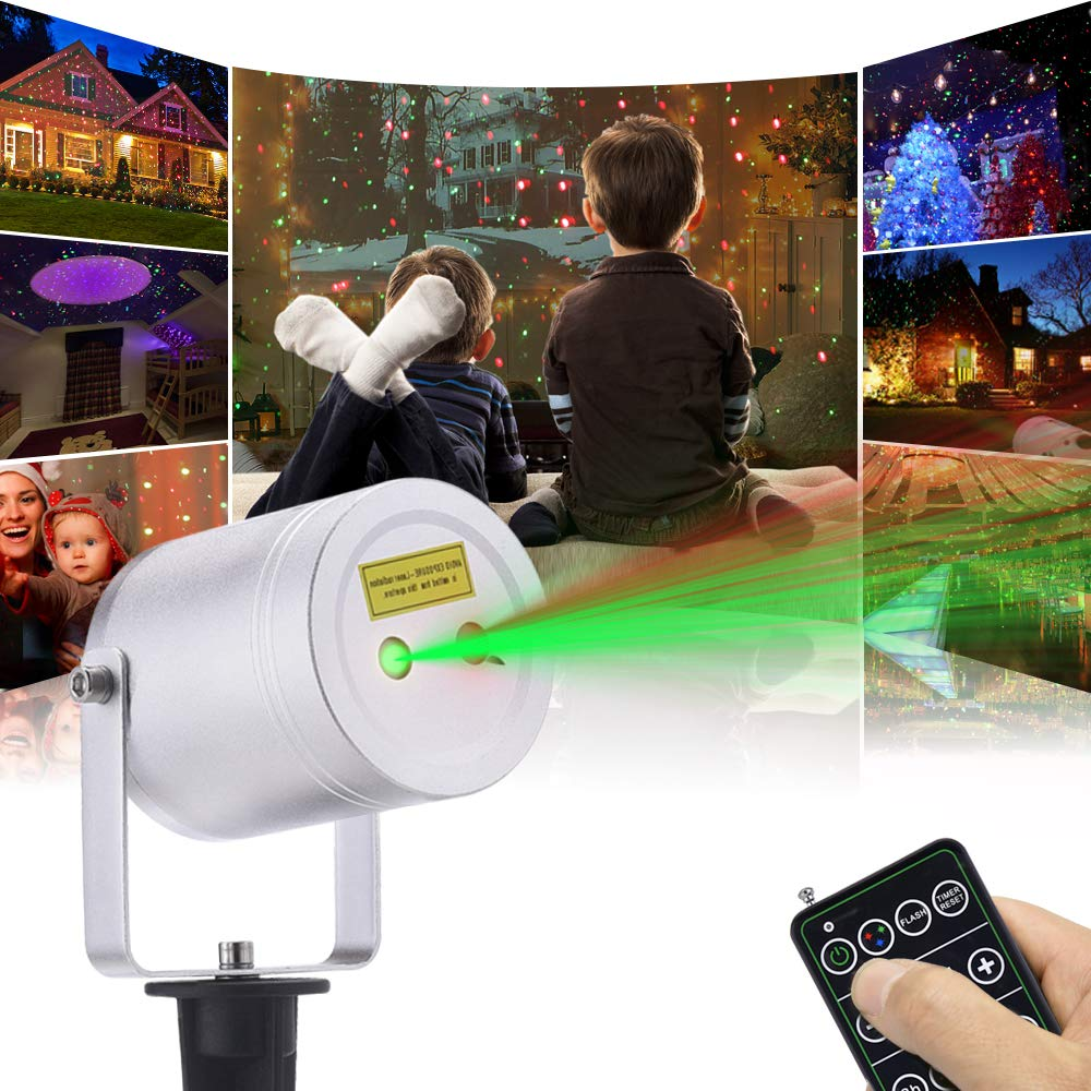 Christmas Laser Lights 2 Color Motion Star Projector
