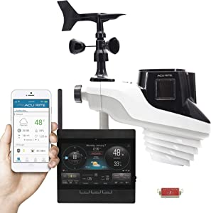 AcuRite Atlas Weather Station with Direct to Wi-Fi Display and Lightning Detection, Black