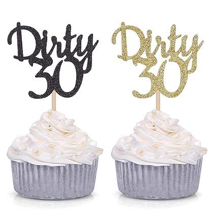 Amazon.com: Adornos para cupcakes, 24 unidades, color dorado ...
