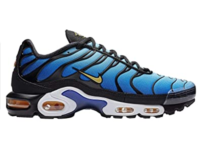 best website 4245f 8695d Nike Men s Air Max Plus Black Chamois Sky Blue Hyper Blue Mesh Running