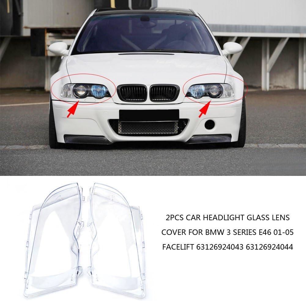 05 Facelift OEM 63126924043 63126924044 2 piezas de cubierta para faros delanteros para 3 E46 01