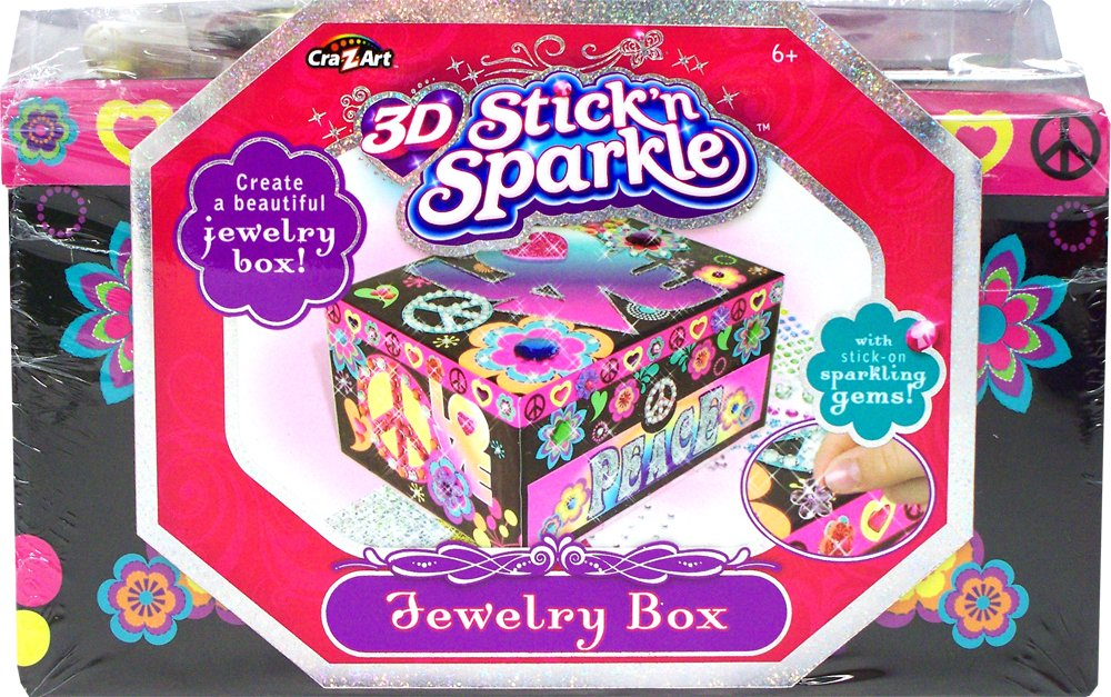 Cra-Z-Art 3D Stick N Sparkle Peace and Love Jewelry Box by Cra-Z-Art (Image #2)
