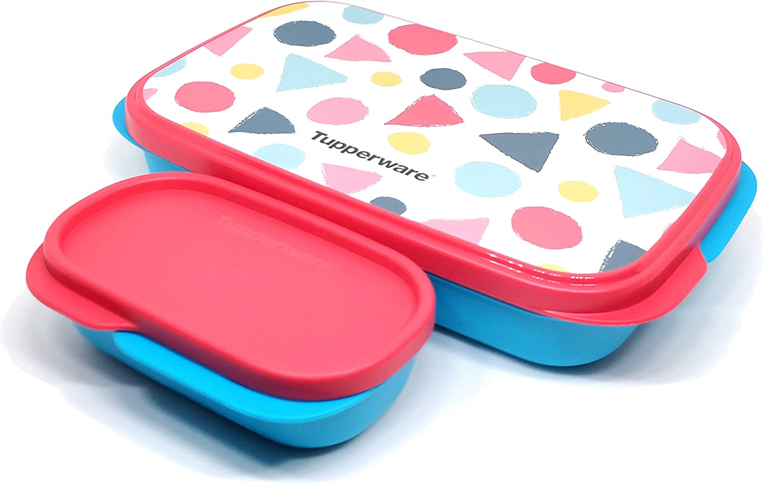 Tupperware Triangle Print My Lunch Box Set of 1 Multicolor (Color May Vary)