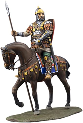 Ronin Miniatures Russian Medieval Spearman Knights Horse Rider Painted Tin Metal Collection Toy Soldier Size 1 32 Scale D cor Accents 54mm for Home Collectible Figurines Best Gift Item 6020Rd
