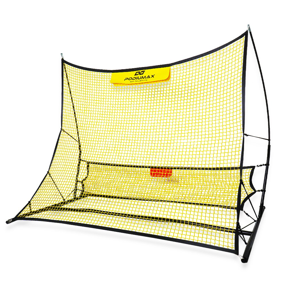 PodiuMax Portable Soccer Trainer, 2 in 1 Soccer Rebounder Net to Improve Soccer Passing and Solo Skills