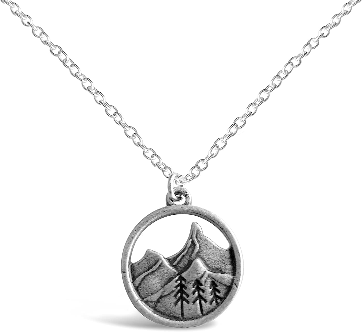 Rosa Vila 3D Mountain Range Necklace RV2, Mountains Nature Necklace, Ideal Outdoorsy Gifts For Women, Gifts For Nature Lovers