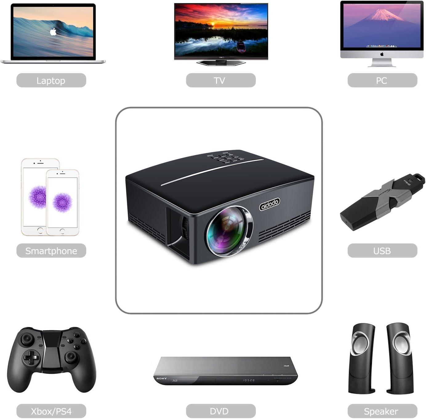Proyector TOQIBO con conector HDMI: Amazon.es: Electrónica