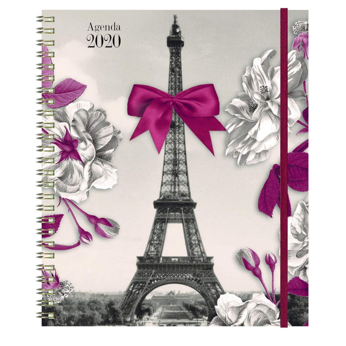 Janvier /à D/écembre 2020 Exacompta 22674E Agenda Semainier Eurotime 22W spiral/é Les Cakes de Bertrand 18,5 x 22,5 cm