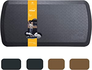 """Anti Fatigue Comfort Floor Mat by Licloud -20""""x39""""x3/4"""" Professional Grade Quality Perfect for Standing Desks, Kitchens, and Laundry - Relieves Foot, Knee, and Back Pain(Black)"""