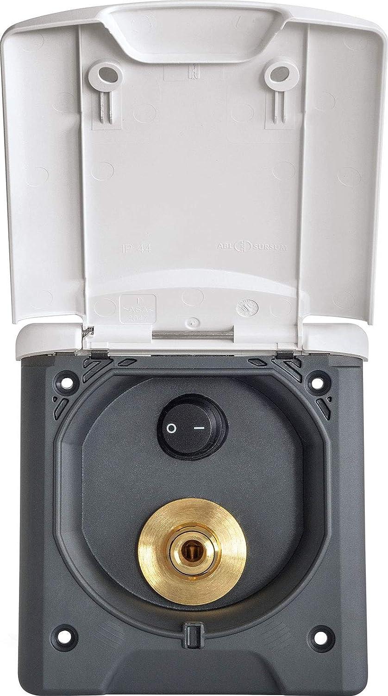 Fawo Wassersteckdose Wippschalter Klappdeckel Magnetverschluss Wasserau/ßenanschluss Camping wei/ß