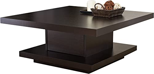 Emorden Furniture Triangle Coffee Table Legs Light Walnut Only Foot , 2 Pieces Interlocking Solid Birch Wood Base, Scratch Resistant Durability