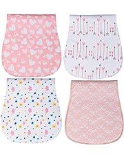 Panni Del Rutto Cotone Pannolini, Burpy Baby bavaglini bandana, 100% Cotone Biologico di YOOFOSS (Rosa)