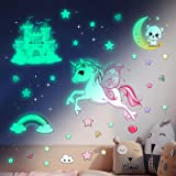 Glow in The Dark Stars Stickers for Ceiling,Unicorn Room Wall Decor for Girls Bedroom Decor,Kids Wall Stickers Unicorn Wall D