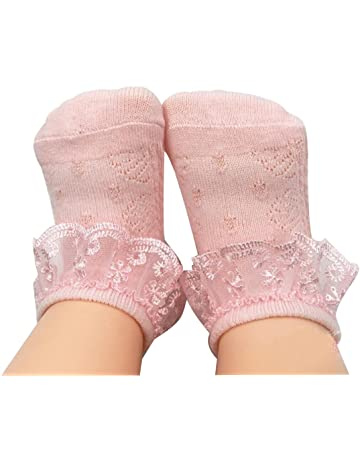 Organza Lace For Christening Baby Girls Frilly Cotton Ankle Socks Sizes 0-5.5