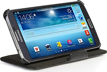 StilGut, UltraSlim, pochette V2 avec fonction de support pour le Samsung Galaxy Mega 6.3 (I9200), en noir