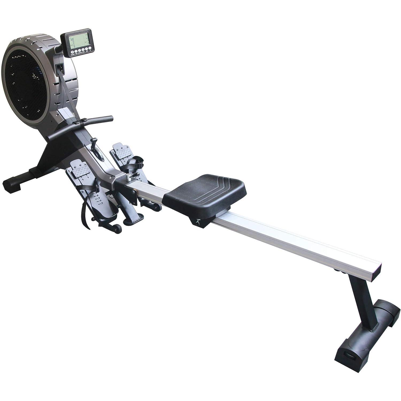 Maxxus Rudergerät 7.4 - Rower In Studioqualität Als Trainingsgerät Für Zuhause - Leiser Luft- und Magnetantrieb, Klappbar, 120Kg Maximales Benutzergewicht - Trainingscomputer mit Wettkampfsimulation