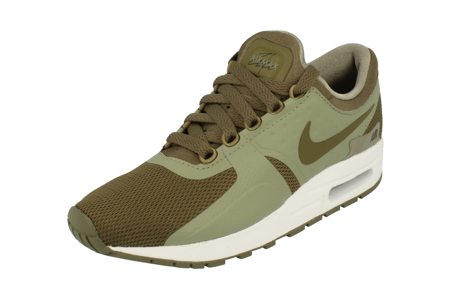 Nike  Air Max Zero Essential GS Running Shoe B005LMZLR4 US 4Y|Medium Olive 200