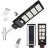 300W Solar Street Light, 15000LM Dusk to Dawn LED Solar Flood Lights Outdoor Motion Sensor, with Remote Control & Pole, Dayli