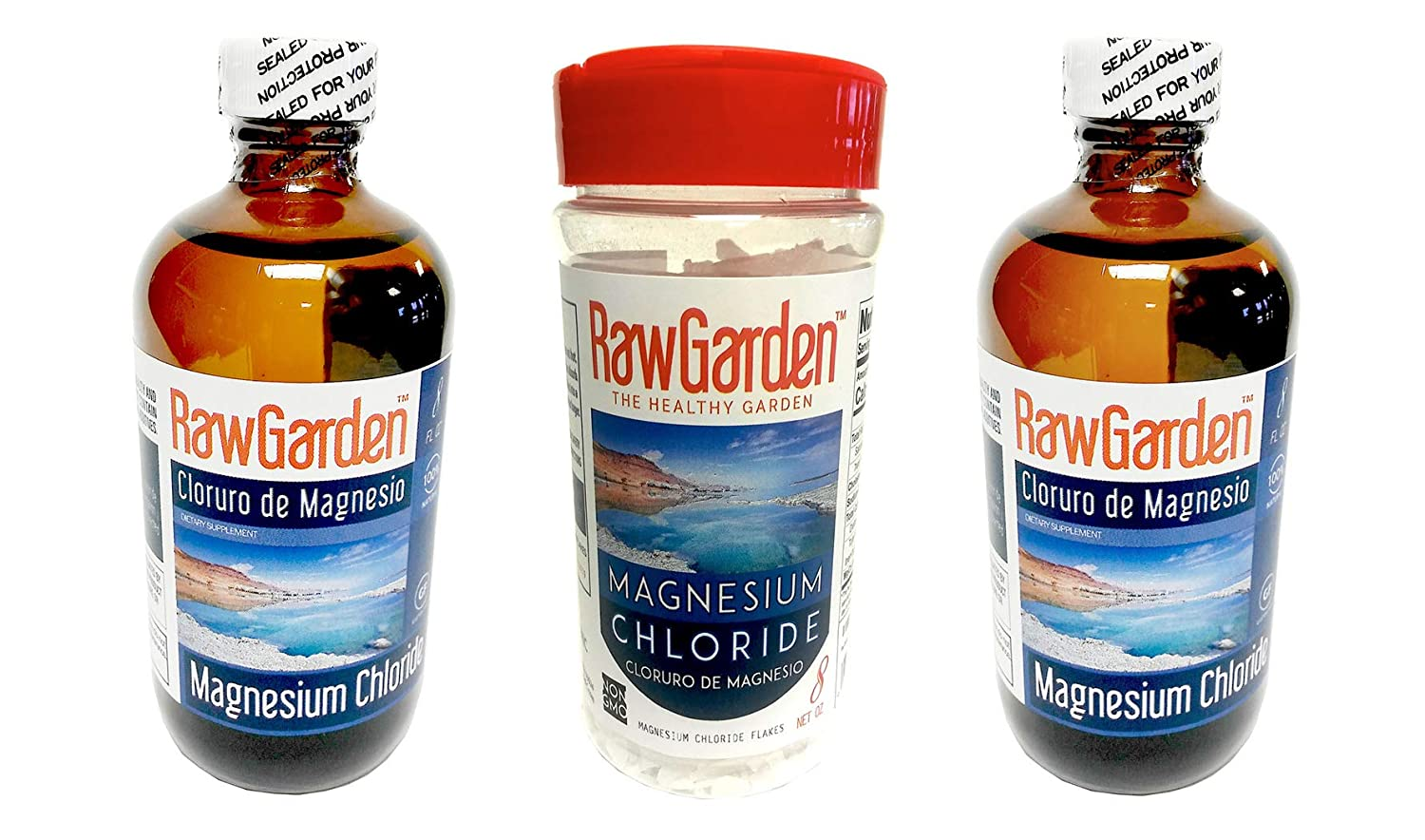 Amazon.com : Raw Garden Magnesium Chloride Liquid 8 oz. Cloruro de Magnesio. Glass bottle. : Grocery & Gourmet Food