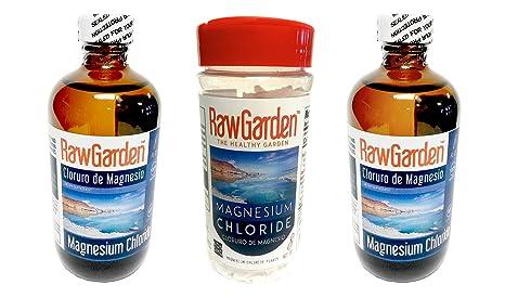 Amazon.com : Raw Garden Magnesium Chloride Flakes 8 oz 2 Pack Cloruro de Magnesio en Hojuelas : Grocery & Gourmet Food