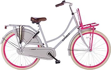 Spirit bicicleta holandesa Abuela Fiets gris de color rosa 26 ...