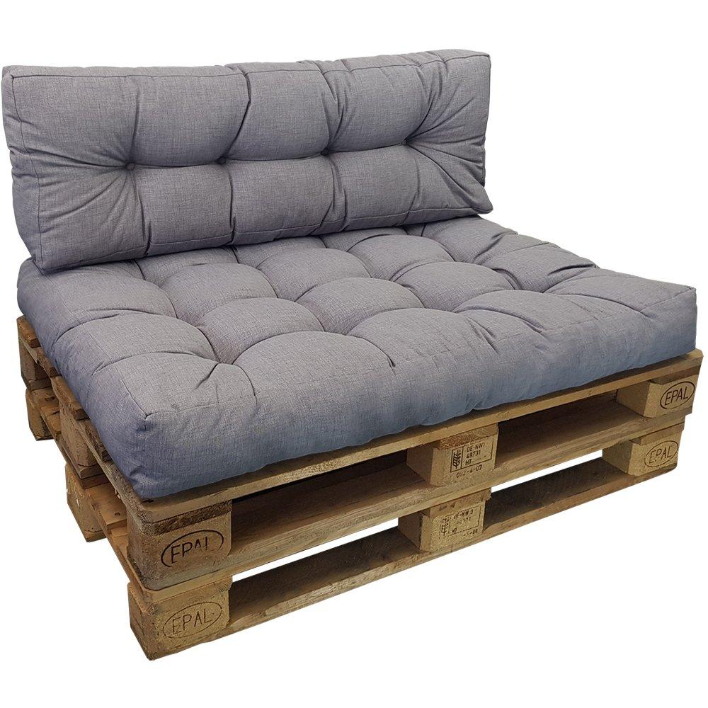 Set 1 Cuscini seduta allo sporco in nero Set Cuscini Lounge II per divano in palet de proheim 1 Cuscini schienale lungo resistente all acqua