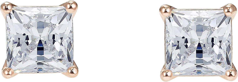 Swarovski Pendientes Attract, baño tono oro rosa