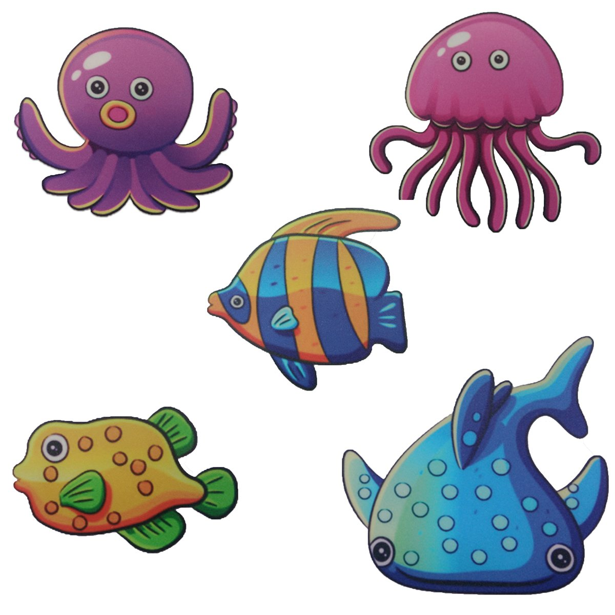 Bathtub Stickers Non Slip Baby | Safety 3d Anti Slippery Decor Appliques- for Shower Adhesive Ocean Animals Colorful Tub Tattoo Buddy Threads/Smooth Tile Bathroom Surface Stickers 20 Pack